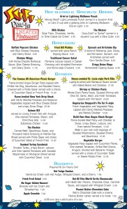 NEWS: Sci-Fi Dine-In Theater Menu Changes
