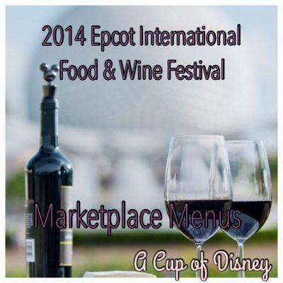 2014 Epcot International Food & Wine Festival Food Kiosks Line-up