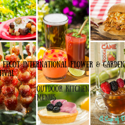 2015 Epcot Int Flower & Garden Festival Kitchen Menu Line-up