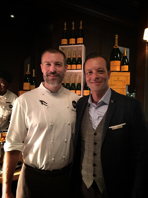 Richard Brown, Chef D'Cuisine Bull & Bear & Rafael Frederick, General Manager, Bull & Bear