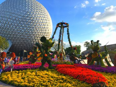 Epcot International Flower and Garden Festival Mickey and Friends Topiary Entrance