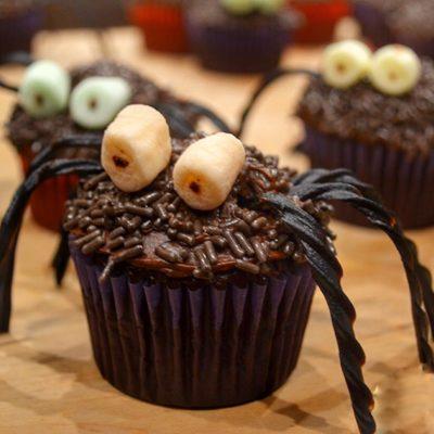 Chocolate Hairy Spider Cupcakes