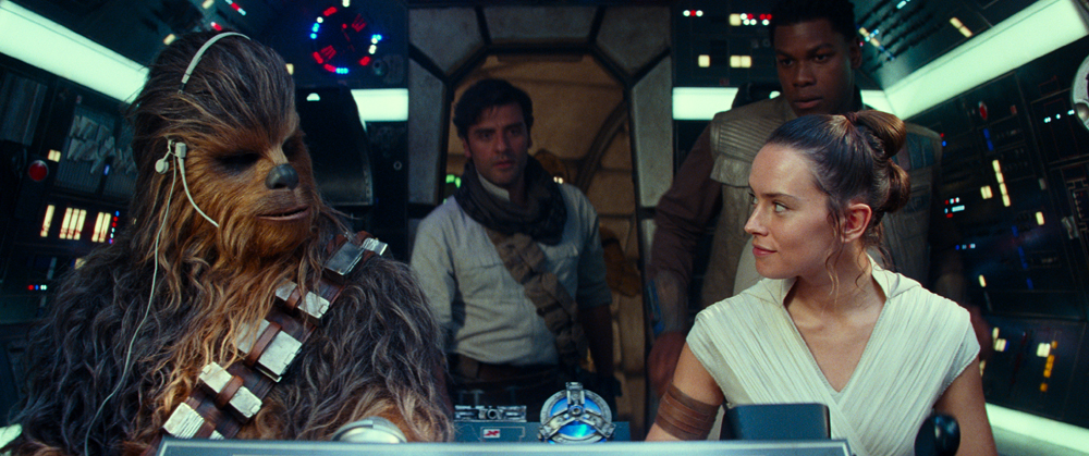 Star War Characters piloting a space ship