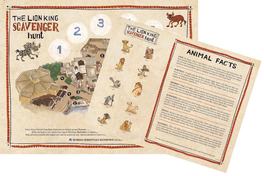The Lion King Scavenger Hunt Animal Kingdom